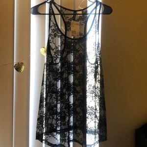 Us 12 (medium/large) cute black lace tank top